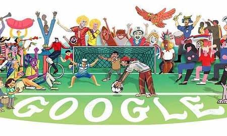 Google Doodle Tampilkan Ilustrasi Piala Dunia 2018